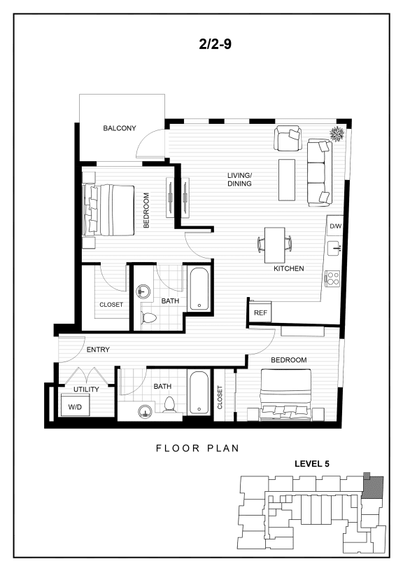 BLU floor plan image