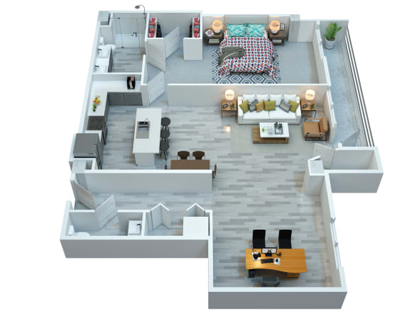 The Stewart apartments Nash floor plan