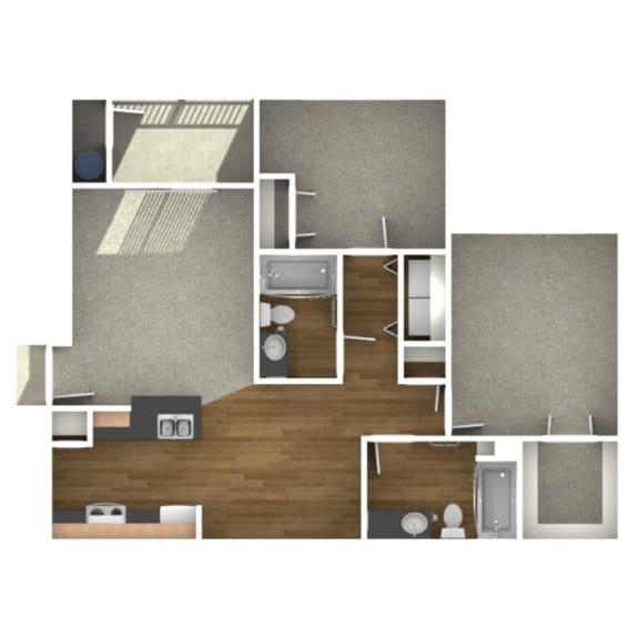 Trove Eastside Apartments Unfurnished B1 Floor Plan