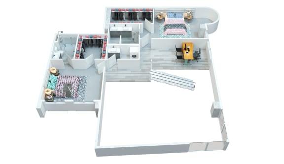 The Stewart apartments McCartney second floor layout