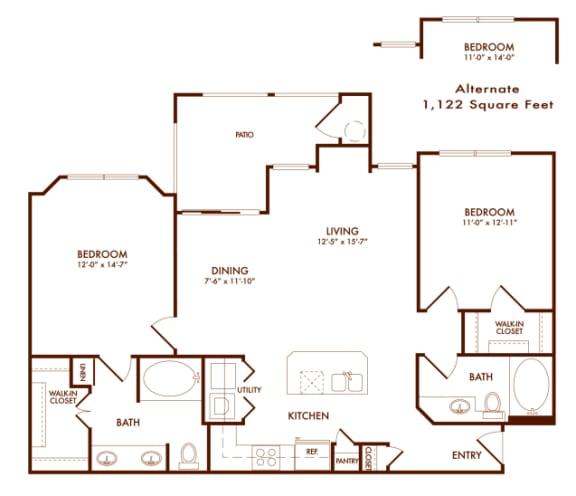 Hudson Miramont B2A Floor Plan