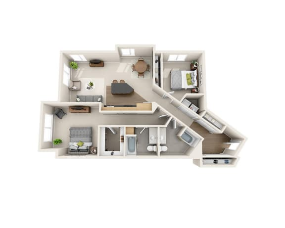 Waterscape at Juanita Village Apartments B2K Floor Plan