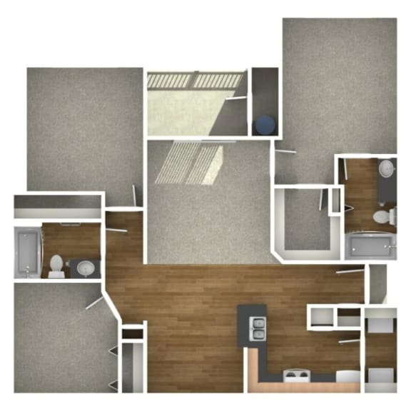 Trove Eastside Apartments Unfurnished C1 Floor Plan