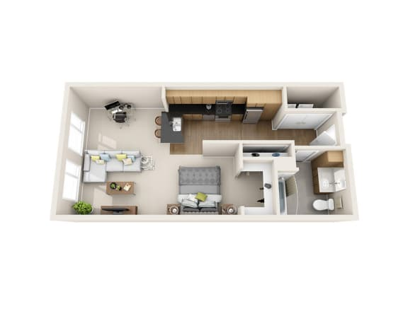 Waterscape at Juanita Village Apartments E1E Floor Plan