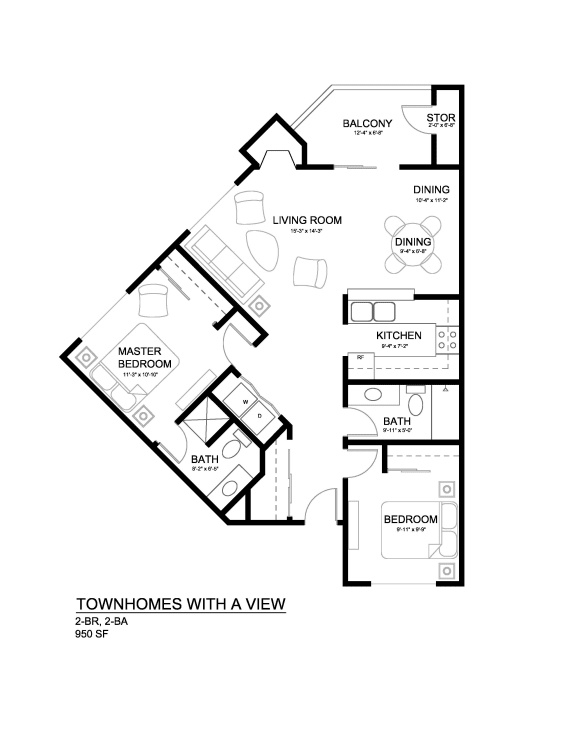 Townhomes with a View Elm Floor Plan