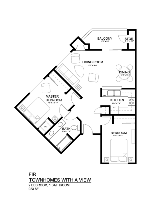 Townhomes with a View Fir Floor Plan