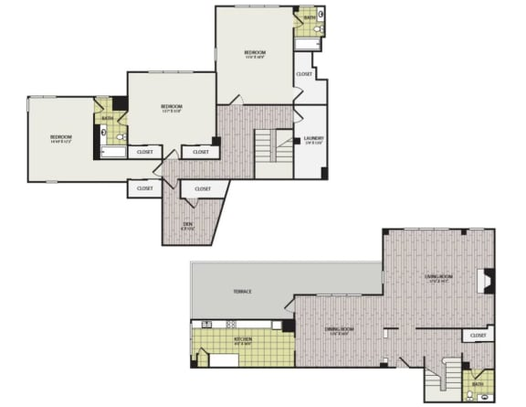Floor Plan  Broadview Apartments Penthouse C Floor Plan