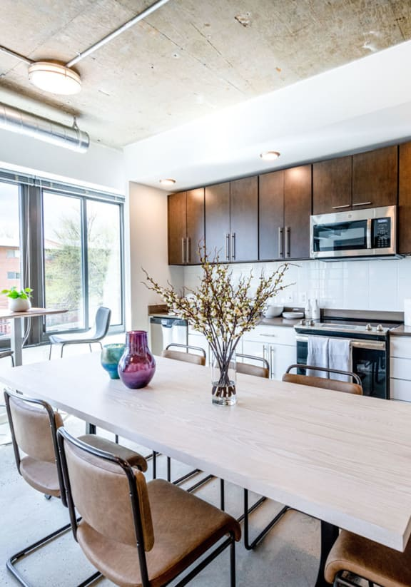 Mission Lofts Apartments Model Dining Room and Kitchen