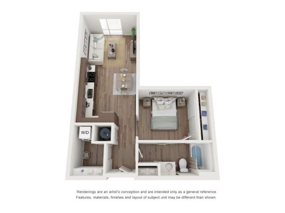 West 38 Apartments Studio A Floor Plan