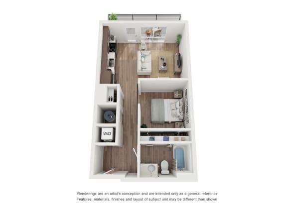 West 38 Apartments Studio C Floor Plan