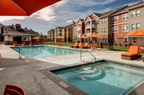 Pool and Spa at The Alloy in Vineyard, UT 84058