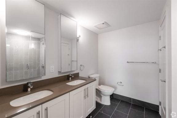 Modern Bathroom Fittings at Park77, Cambridge, Massachusetts