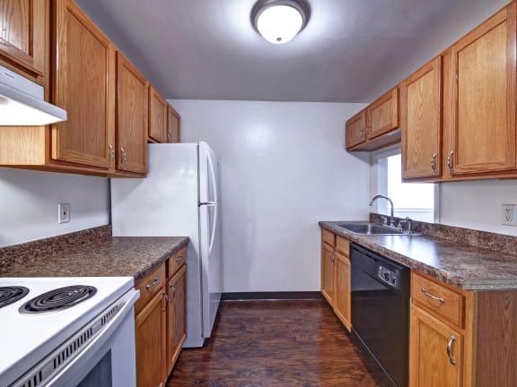 Oak Kitchen Cabinets at Highland Club Apartments, Watervliet, New York