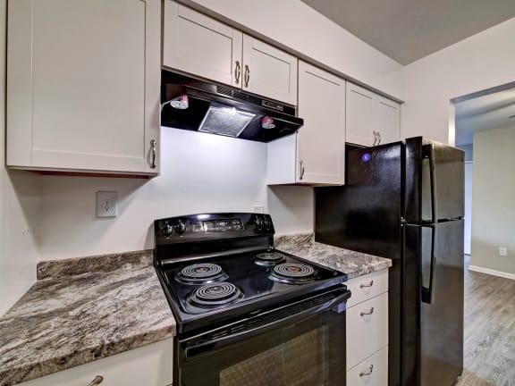 Black Appliances at Highland Club Apartments, Watervliet, New York