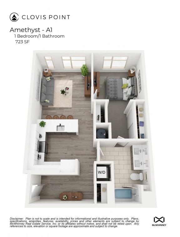 Floor Plan  Amethyst Floor Plan at Clovis Point, Longmont