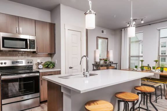 Dining attached to kitchen at The Kelley, Ft. Worth, TX, 76102