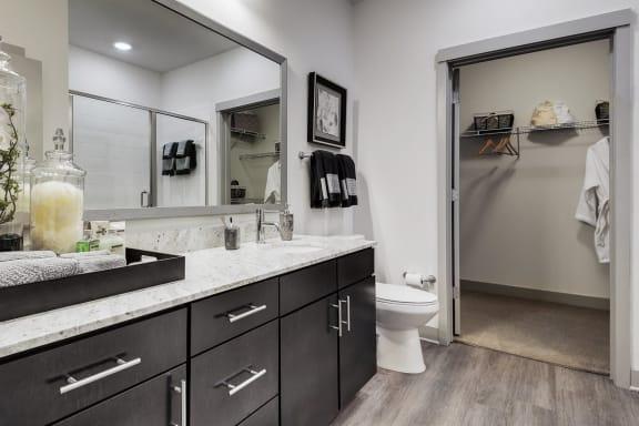 Bathroom Interior area at The Kelley, Ft. Worth
