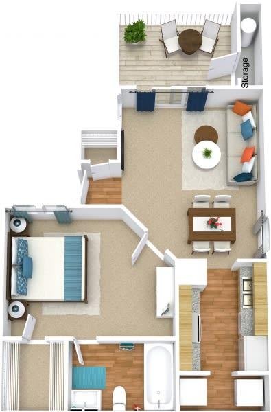 Floor Plan  A1B Floorplan