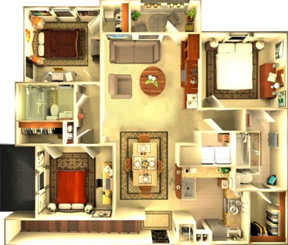 Floor Plan  The Amsterdam 3 bedroom with Garage floorplan