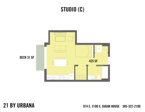 Floor Plan  STUDIO (21-0C)