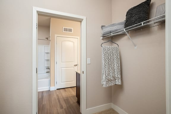 The Haven at Shoal Creek walk-in closet