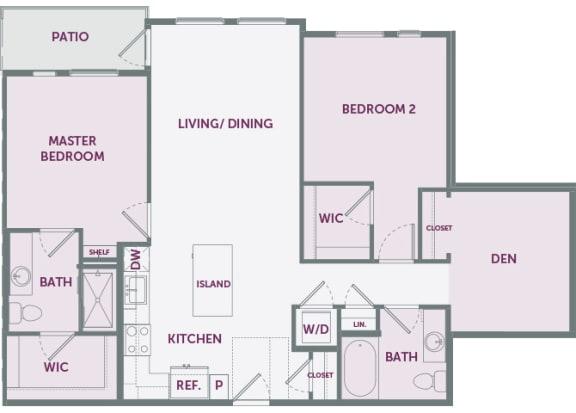 Element 25 apartments B4 2-bedroom 2D floor plan