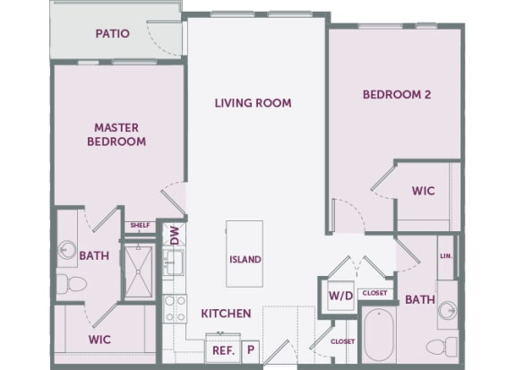 Element 25 apartments B7 2-bedroom 2D floor plan