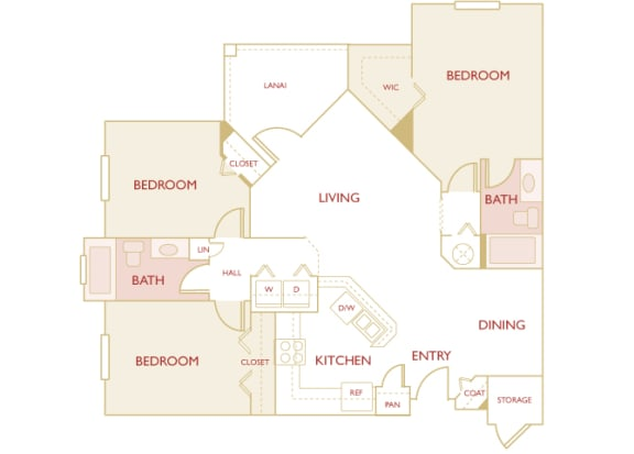 Asprey floor plan - C1 Eric - 3 bedroom and 2 bath