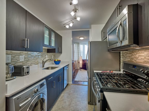 Hill House stainless steel appliances