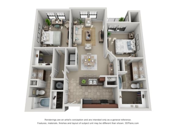 Floor Plan  B2 Renovated