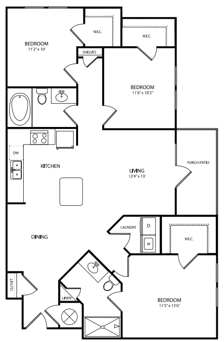 The best three bedroom apartment in Canton