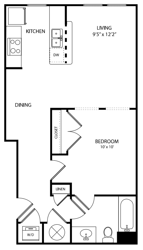 A spacious studio with privacy and comfort