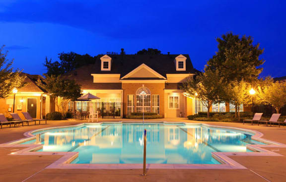 Resident Amenity Club with Pool and Cabanas-Berkshire Annapolis Bay Apartments
