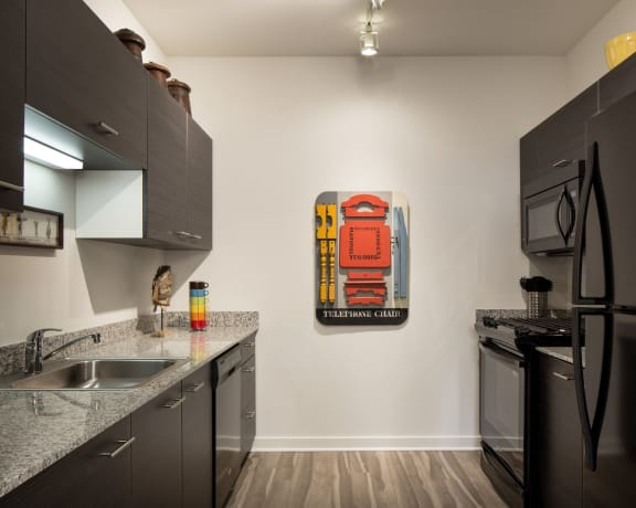 Euro Style Cabinetry and Granite Counters-Eight O Five Chicago Apartments