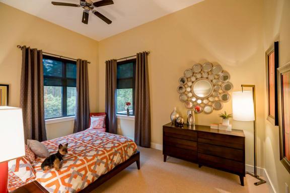 Bedroom With Expansive Windows at Eon at Lindbergh, Atlanta, Georgia