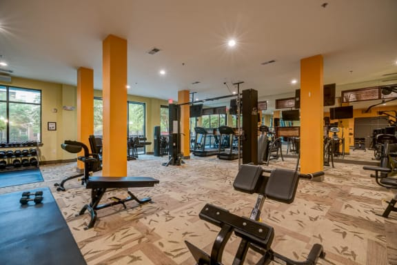 Fitness Center With Modern Equipment at Eon at Lindbergh, Atlanta, GA