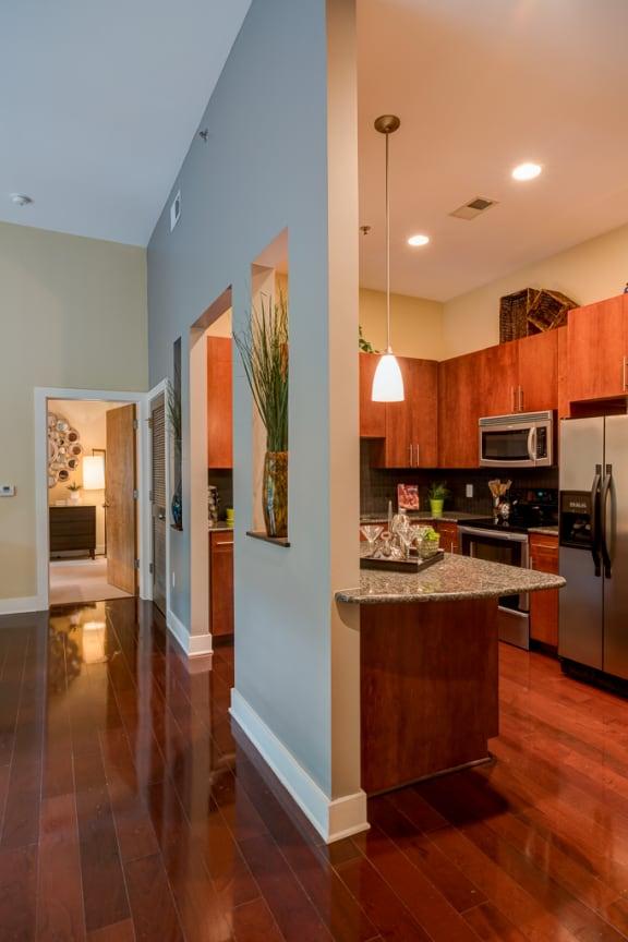 Wood Floor Kitchen at Eon at Lindbergh, Atlanta, GA, 30324
