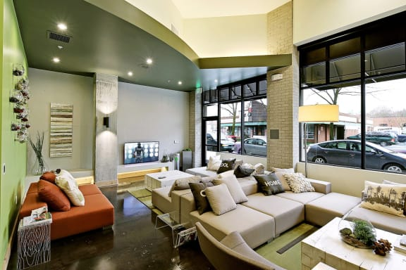 Common area with sofa