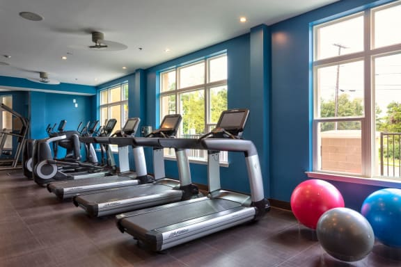 Cardio Machines In Gym at Berkshire Main Street, Durham, NC, 27705