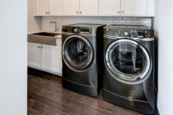 Washer And Dryer In Unit at Berkshire Dilworth, Charlotte, North Carolina