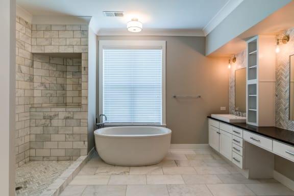 Bathroom With Bathtub at Berkshire Dilworth, Charlotte, NC