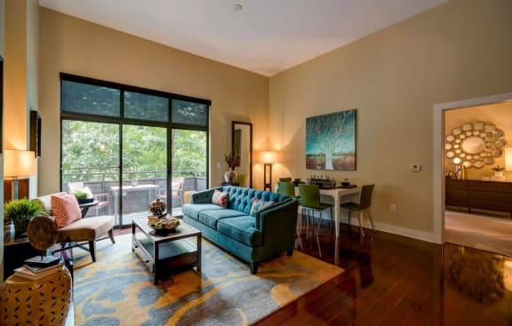Modern Living Room at Eon at Lindbergh, Atlanta, 30324