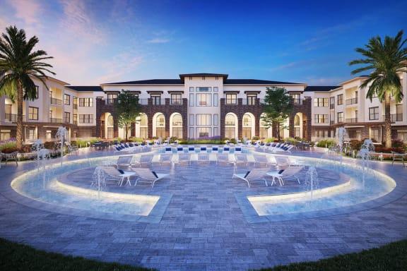 Sparkling Swimming Pool at Berkshire Exchange Apartments, Texas
