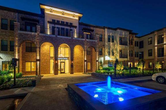 Exterior Night at Berkshire Exchange Apartments, Spring
