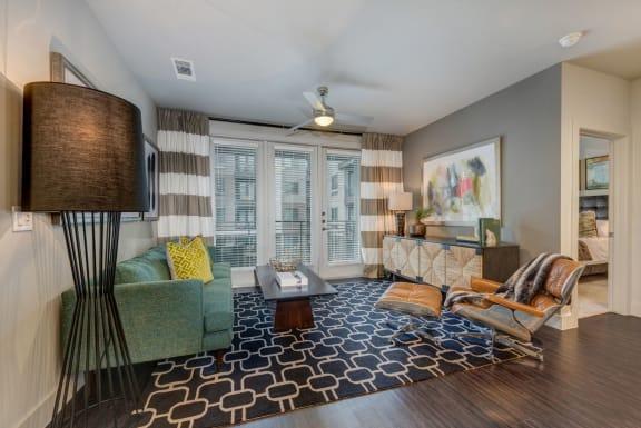 Gorgeous Living Room at Berkshire Auburn, Dallas, Texas