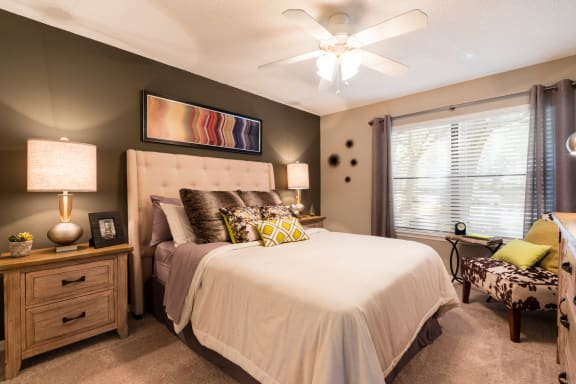Beautiful Bright Bedroom With Wide Windows at Fountains at Lee Vista, Orlando, FL, 32822