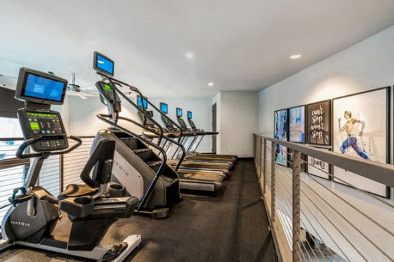 Cardio Machines In Gym at Berkshire Chapel Hill, Chapel Hill, NC, 27514