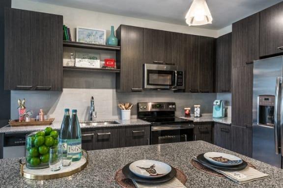 Modern Kitchen With Custom Cabinet at Berkshire Chapel Hill, North Carolina, 27514