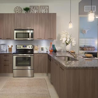 Fully Furnished Kitchen With Stainless Steel Appliances at Berkshire Coral Gables, Florida