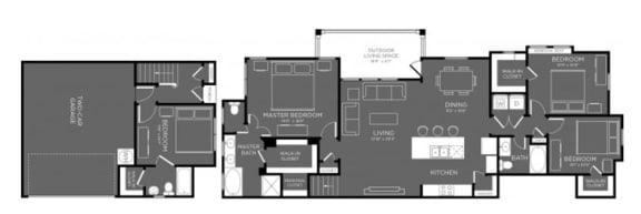 Four Bed Three Bath Floor Plan at Mansions Woodland, Conroe